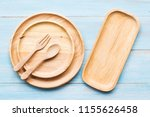 kitchenware with wooden dish or ... | Shutterstock . vector #1155626458