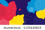 abstract pop art line and dots... | Shutterstock .eps vector #1155634825