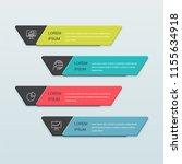 infographics business design... | Shutterstock .eps vector #1155634918