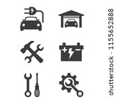 car service and repair icons... | Shutterstock .eps vector #1155652888