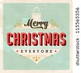 vintage christmas card   vector ...