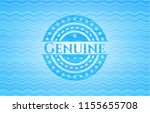 genuine sky blue water badge... | Shutterstock .eps vector #1155655708
