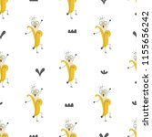 seamless pattern with funny... | Shutterstock .eps vector #1155656242