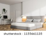 corner of a modern bedroom with ... | Shutterstock . vector #1155661135