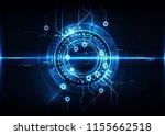 abstract digital technology... | Shutterstock .eps vector #1155662518