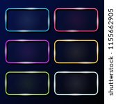 collection of neon frames on... | Shutterstock . vector #1155662905