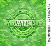 advanced green mosaic emblem | Shutterstock .eps vector #1155667642