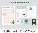 set of planners and to do lists ... | Shutterstock .eps vector #1155674635