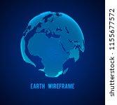 wireframe planet earth globe.... | Shutterstock . vector #1155677572