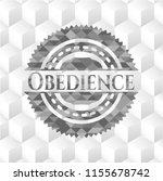 obedience grey emblem. retro... | Shutterstock .eps vector #1155678742