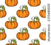 seamless pattern with pumpkins. ... | Shutterstock .eps vector #1155680035