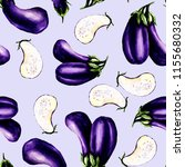 seamless texture of eggplant ... | Shutterstock . vector #1155680332