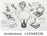 creative education sketch....   Shutterstock . vector #1155685258
