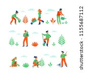 vector set of illustrations in... | Shutterstock .eps vector #1155687112