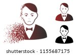 unhappy dealer icon in sparkle  ... | Shutterstock .eps vector #1155687175
