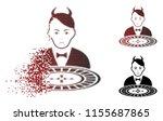 unhappy devil roulette dealer... | Shutterstock .eps vector #1155687865