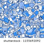graffiti seamless pattern with... | Shutterstock .eps vector #1155692092