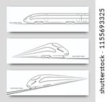 abstract high speed train in... | Shutterstock .eps vector #1155693325