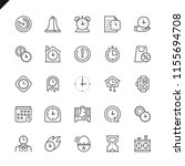 thin line time icons set for... | Shutterstock .eps vector #1155694708
