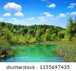 beautiful landscape in the... | Shutterstock . vector #1155697435