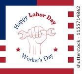 happy labor day banner. design... | Shutterstock .eps vector #1155714862