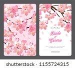 sakura flowers background... | Shutterstock .eps vector #1155724315