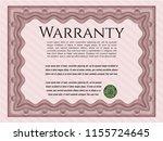 red retro warranty template.... | Shutterstock .eps vector #1155724645