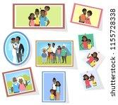 gallery of african american... | Shutterstock .eps vector #1155728338