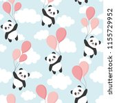 seamless panda pattern... | Shutterstock .eps vector #1155729952