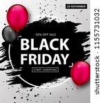 black friday sale poster.... | Shutterstock .eps vector #1155731032