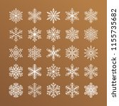 cute snowflakes collection... | Shutterstock .eps vector #1155735682