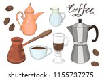coffee time collection  cup  ... | Shutterstock .eps vector #1155737275
