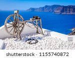oia  santorini   greece. famous ... | Shutterstock . vector #1155740872