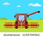 combine agricultural machine... | Shutterstock .eps vector #1155744562