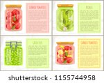 canned tomatoes with bay leaf ... | Shutterstock .eps vector #1155744958