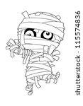 standing mummy halloween...   Shutterstock .eps vector #115574836