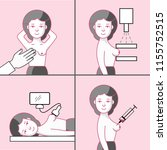 breast cancer diagnostic set.... | Shutterstock .eps vector #1155752515