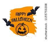 happy halloween cartoon doodle... | Shutterstock .eps vector #1155753208