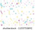 memphis style geometric... | Shutterstock .eps vector #1155753892