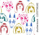 vector naive hand drawn breed... | Shutterstock .eps vector #1155758182