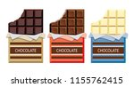 vector collection of opened... | Shutterstock .eps vector #1155762415