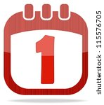 icon in the form of a calendar... | Shutterstock .eps vector #115576705