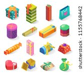 gifts isometric vector icons... | Shutterstock .eps vector #1155768442