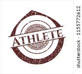 red athlete distress grunge seal   Shutterstock .eps vector #1155772612
