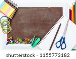 stationery supplies on white...   Shutterstock . vector #1155773182