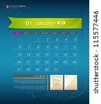 January 2013 Calendar Ribbon...