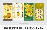 flat natural honey vertical... | Shutterstock .eps vector #1155775852