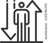 stick figure up down  bold line ... | Shutterstock .eps vector #1155781795