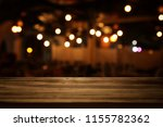 image of wooden table in front... | Shutterstock . vector #1155782362