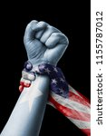 american vs somalia  fist... | Shutterstock . vector #1155787012